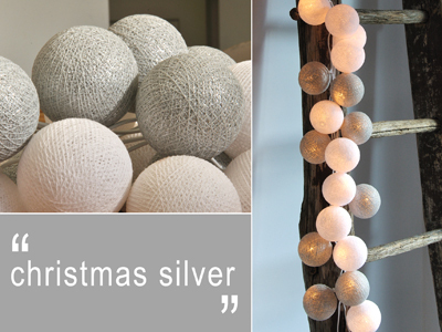 Happy Lights Christmas Silver 20 palloa